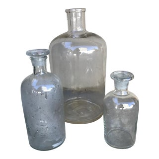 Vintage Glass Jars - Set of 3