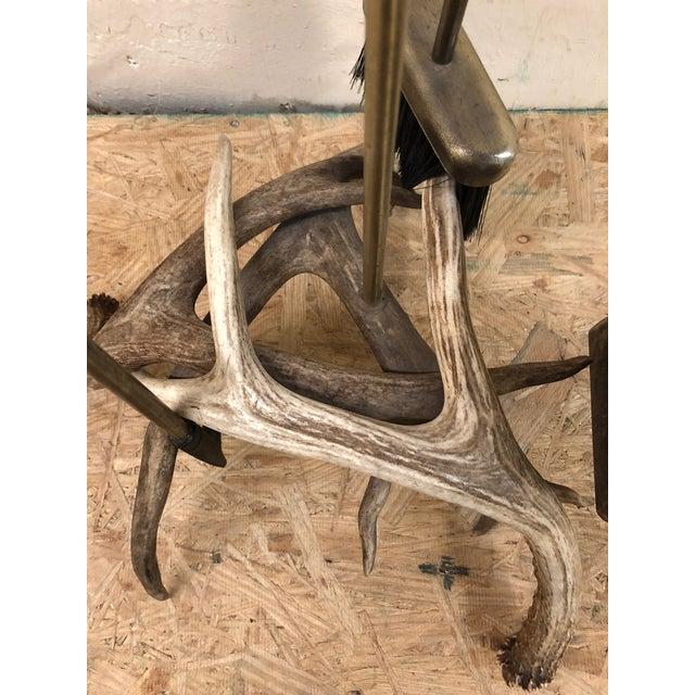 Custom Made Antler Fireplace Set For Sale - Image 9 of 11