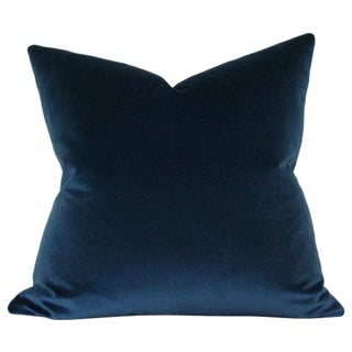 Midnight Blue Velvet Pillow Cover For Sale