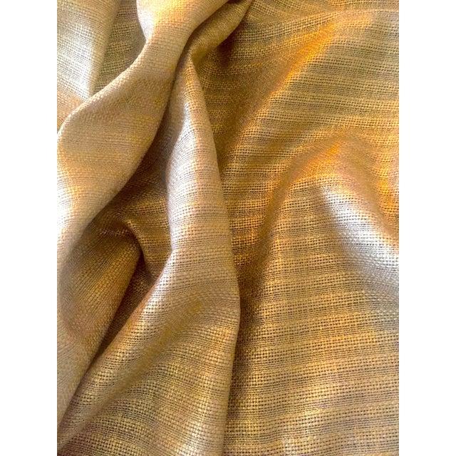 Designer's Guild Sassiere Gold Linen Wide Width Fabric - 2.25 Yards For Sale