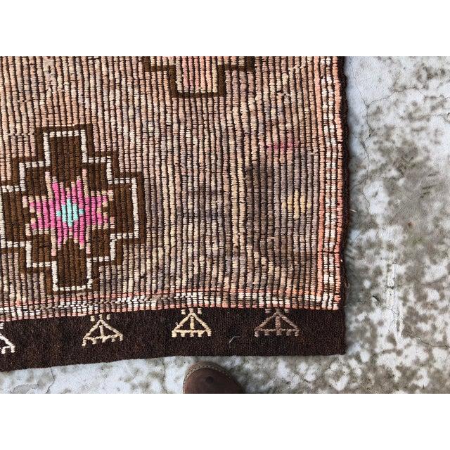 1960s Vintage Turkish Nomadic Tribal Area Rug - 6′9″ × 8′8″ For Sale - Image 10 of 11