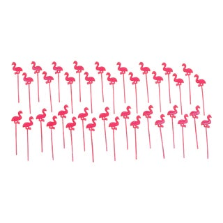 Flamingo Party Picks - Set of 36
