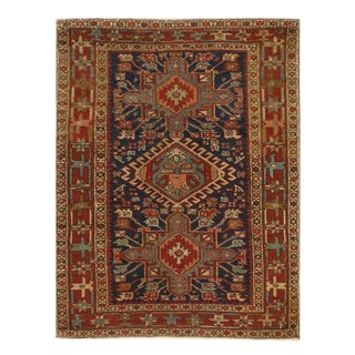"Pasargad Navy Antique Persian Serapi Rug - 3'4"" X 4'4"" For Sale"
