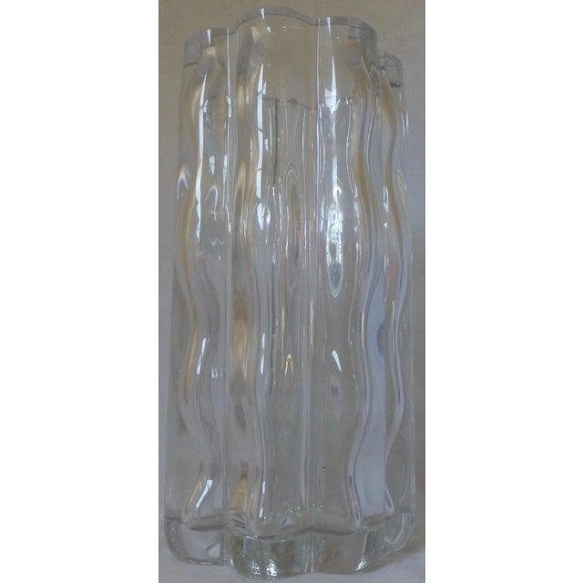 Mid Century Modern Signed Orrefors Large Glass Vase Chairish