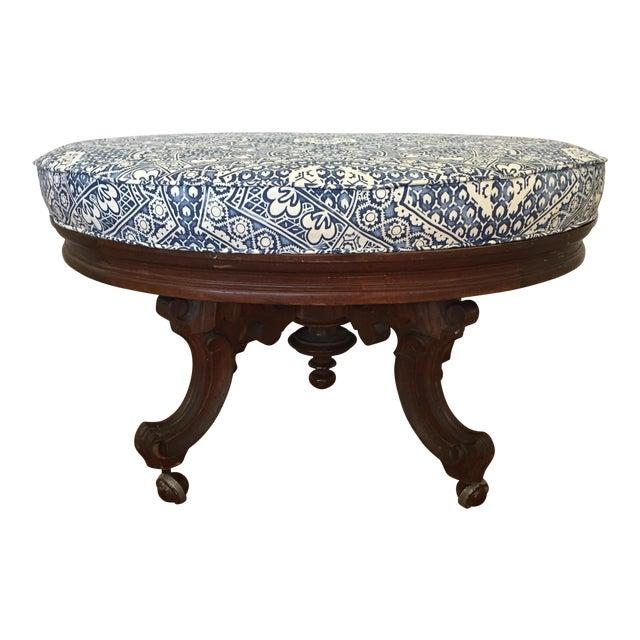 Ralph Lauren Upholstered Antique Ottoman For Sale