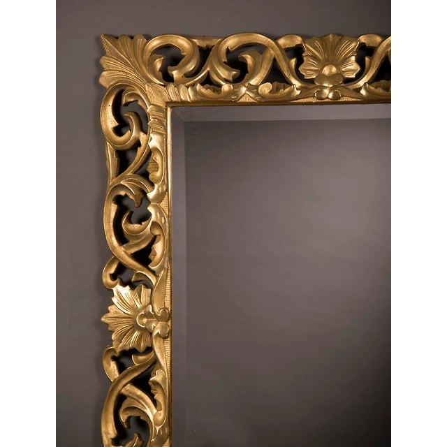 Late 19th Century 19th Century French Baroque Style Gold Leaf Framed Beveled Mirror For Sale - Image 5 of 8