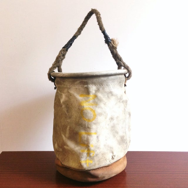 Vintage Lineman's Canvas Bucket - Image 3 of 4
