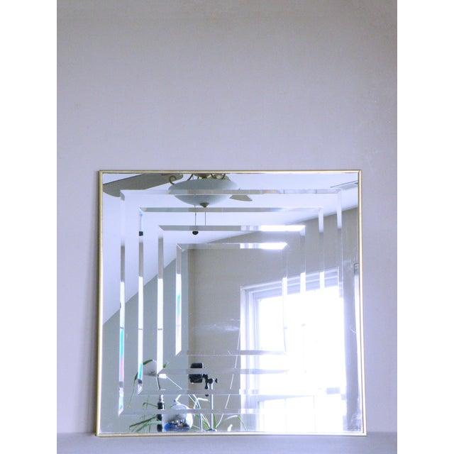 Hollywood Regency 1970s Vintage Op Art Mirror For Sale - Image 3 of 3