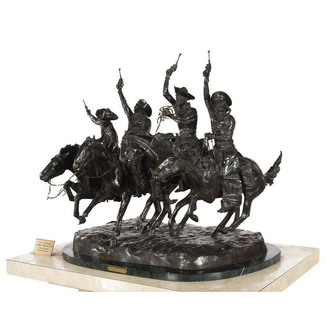 "F. Remington ""Coming Through the Rye"" Bronze Sculpture - Image 9 of 11"