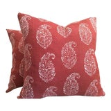 """Image of Peter Dunham """"Like"""" Pillows in Paisley - a Pair For Sale"""