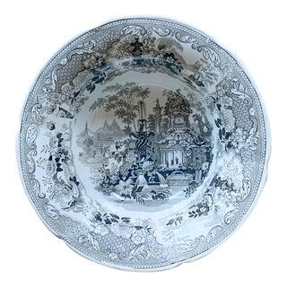 Antique English Porcelain Serving Bowl For Sale