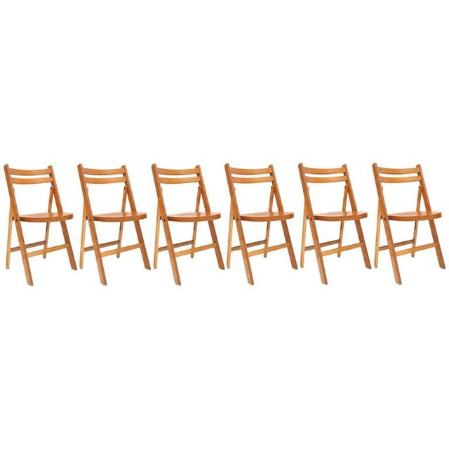 Brown Fantastic Folding Chair, 1950s For Sale - Image 8 of 8