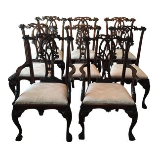 Chippendale Dining Room Chairs - Set of 8