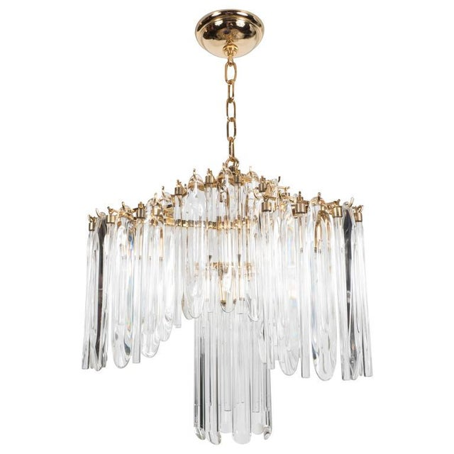 Mid-Century Draped Design Chandelier by Lobmeyr, 24-Karat Gold-Plated Fittings For Sale - Image 10 of 10