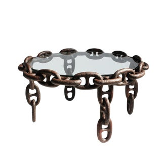 Vintage Iron Ship Chain Coffee Table