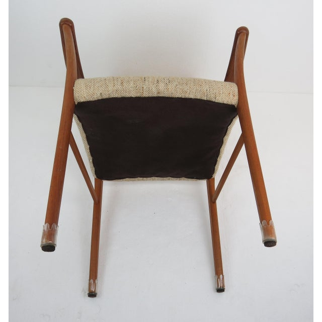 1960s Sculptural Mid-Century Modern Danish Teak Dining Chairs - Set of 4 For Sale - Image 12 of 13