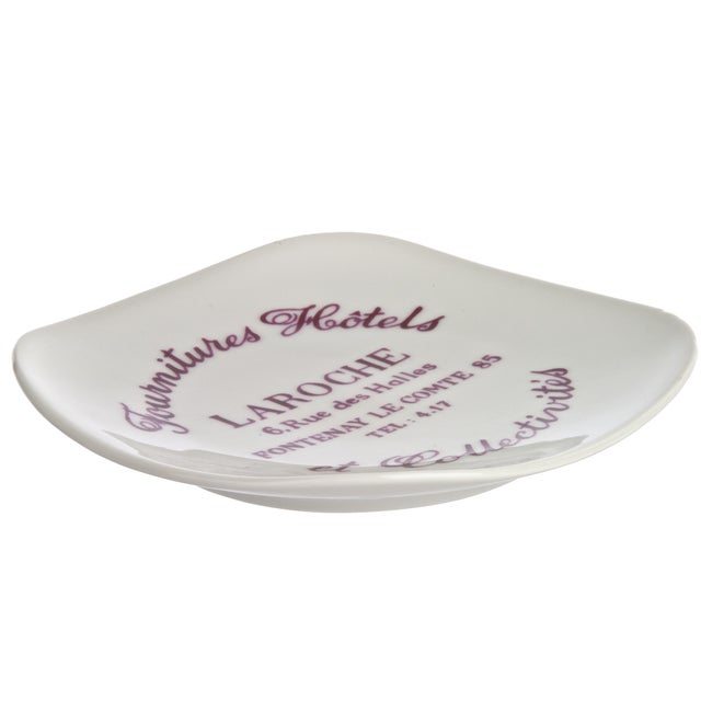 Vintage French La Roche Porcelain Ashtray - Image 2 of 4