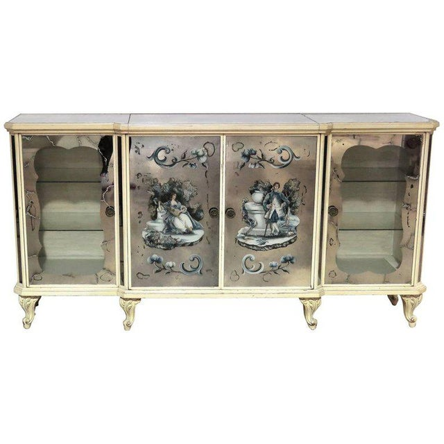 Hollywood Regency Style Eglomised Bar or Sideboard For Sale - Image 11 of 11