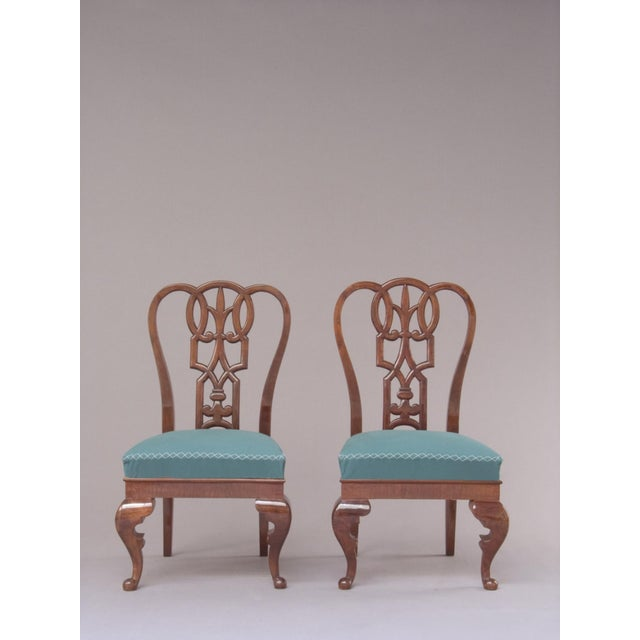 Aesthetic Movement A PAIR OF LAJOS KOZMA AESTHETIC MOVEMENT CHAIRS For Sale - Image 3 of 4