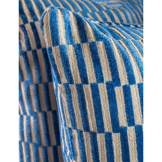 "Metal 18""x 18"" Geometric Manuel Canovas Down Pillows For Sale - Image 7 of 8"