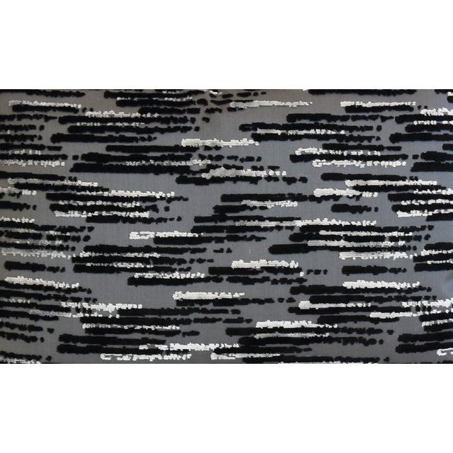 """Modern Zinc Textiles Cut & Uncut Velvet Feather/Down Pillows 22"""" X 16"""" - Pair For Sale - Image 4 of 13"""