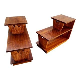 Hawaiian Koa Step End Tables - a Pair