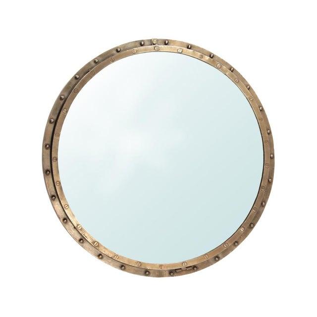 Industrial Brass Rivet Mirror Frame - Image 1 of 2