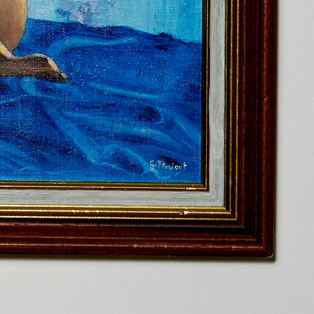 Contemporary 1980s Nude Oil Painting on Canvas For Sale - Image 3 of 4