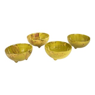 1960s Mid-Century Modern Sascha Brastoff Coupe Soup Bowls - Set of 4 For Sale