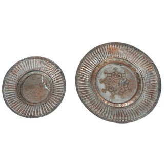 Pair of Copper Hanging Bowls For Sale