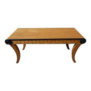 Swedish Custom Oak & Ebonized Stylized Table/Bench
