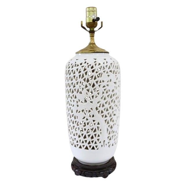 Vintage Blanc De Chine Lamp For Sale