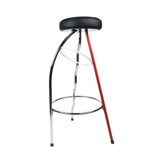 Red Duplex Bar Stool by Javier Mariscal for Bd Barcelona For Sale