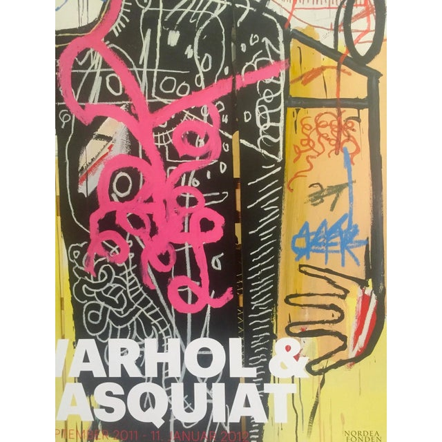 Andy Warhol & Jean Michel Basquiat Rare Limited Edition Original Offset Lithograph Print Poster For Sale - Image 9 of 11