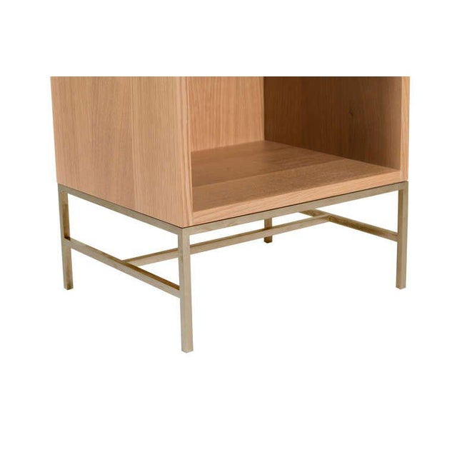 Popp Oak Nightstands - a Pair For Sale - Image 4 of 4