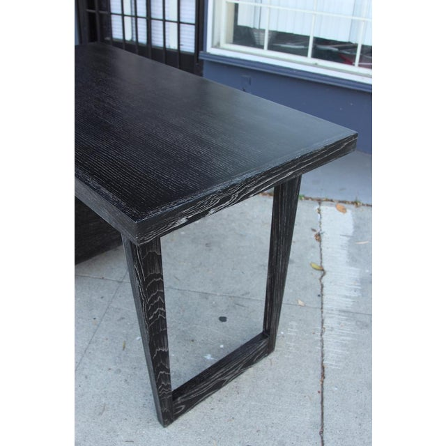 Gray Morris of California Architectural Oak Desk For Sale - Image 8 of 11