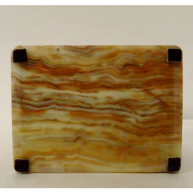 Vintage Carved Onyx Box For Sale - Image 9 of 10