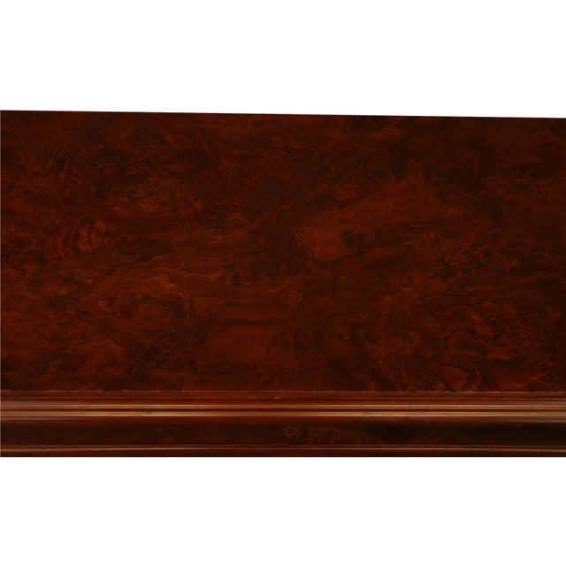 2000 - 2009 New Dutch Bombe Chest of Drawers Burled For Sale - Image 5 of 11