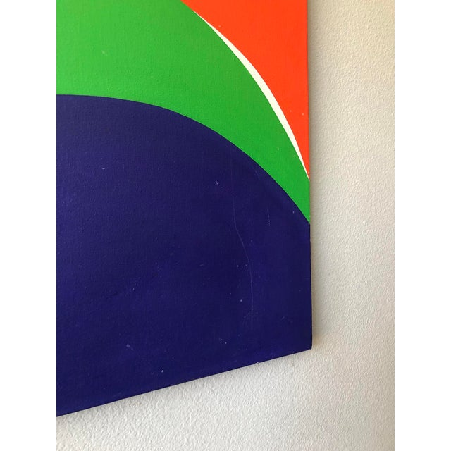 """1980s Monumental Modern Acrylic on Canvas, """"Vibrations"""", Betty Usdan-Zwickler, 1982 For Sale - Image 5 of 6"""