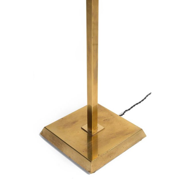 Mid-Century Modern Chapman Inverted Brass Pyramid Torchere For Sale - Image 3 of 3