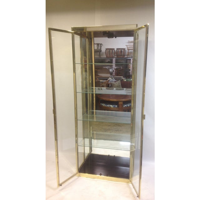 1980's Style Brass and Glass Cabinet - Image 5 of 8