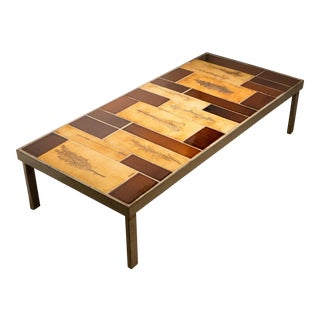 Roger Capron Cocktail Table with Garrigue Tiles For Sale