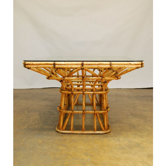 Mid-Century Architectural Bamboo Dining Table For Sale - Image 7 of 10