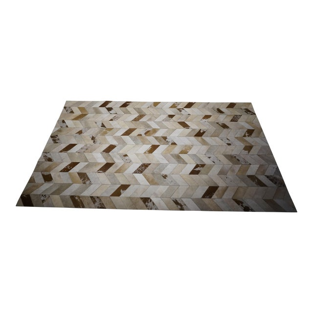 Contemporary Hair on Hide Rug - 5′ × 8′ - Image 1 of 5
