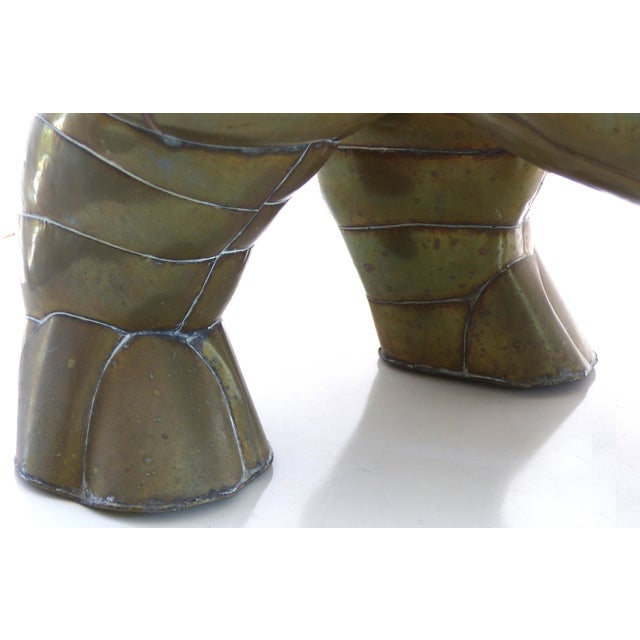 Sergio Bustamante Brass Rhino Sculpture for SerMel For Sale - Image 9 of 13