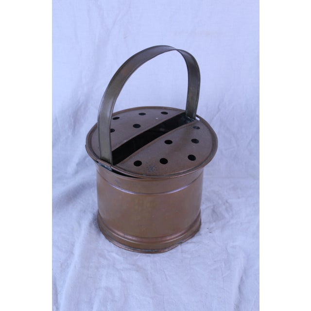 Early 20th Century 20th Century Belgian Copper Flower Pail For Sale - Image 5 of 5