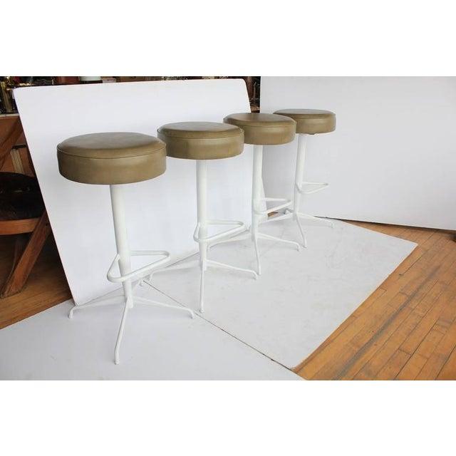 Stylish Mid Century Bar Stools With New Upholstery.