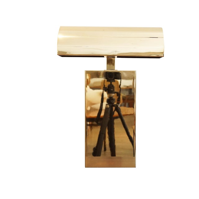 Gold 1970s Karl Springer Desk Lamp For Sale - Image 8 of 8