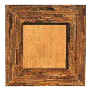 Large Square Wooden Frame for a Mirror or Artwork For Sale