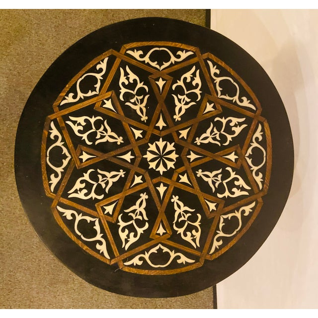 1990s Moroccan Brass Side Table For Sale - Image 5 of 13